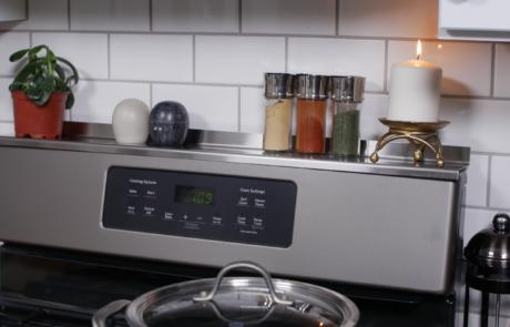 Stove Shelf Magnetic Shelf for Kitchen Stove - Website Photo