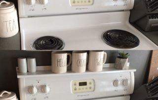 Stove Shelf - White - Magnetic Shelf for Kitchen Stove - Customer Photo