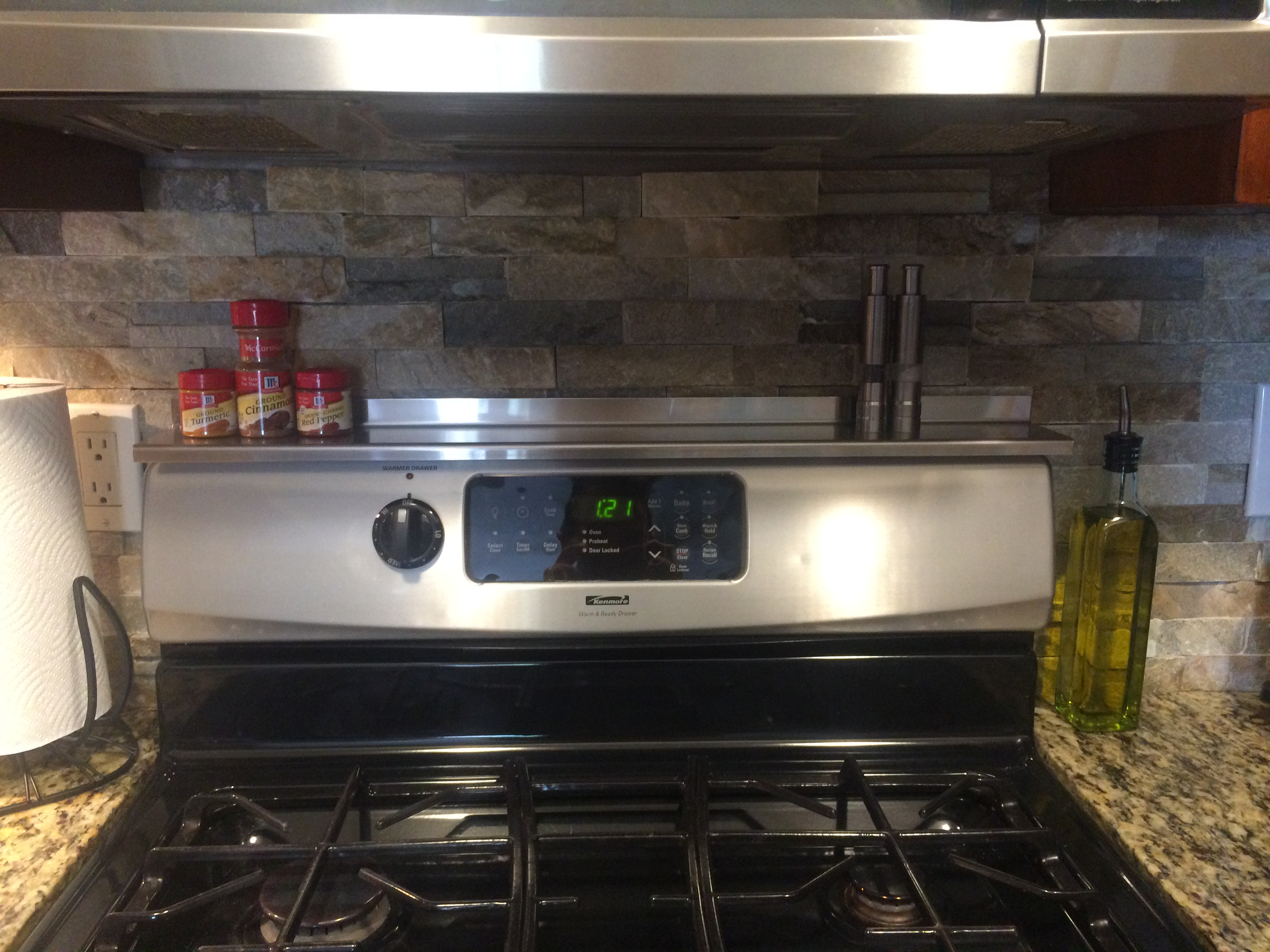 Stoveshelf Stainless 30 Quot Magnetic Shelf For Kitchen Stove