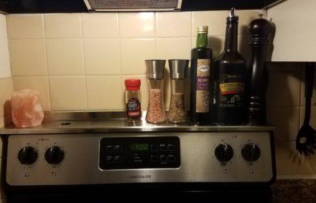 Stove Shelf Magnetic Shelf for Kitchen Stove - Customer Photo
