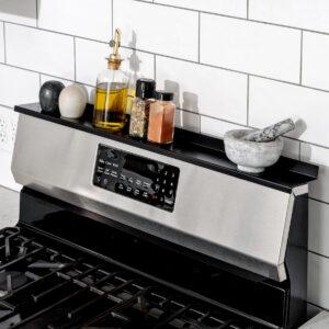 Stove Shelf Black Magnetic Shelf for your Kitchen Stove