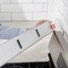 "StoveShelf - Stainless Steel - 24"" - Magnetic Shelf for Apartment Kitchen Stove, Kitchen Storage Solution, Zero Installation"