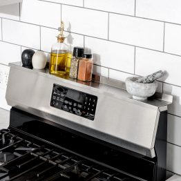 StoveShelf Deluxe Magnetic Shelf for Kitchen Stove - Kitchen Storage Solution with Zero Installation - Stainless Steel - 30